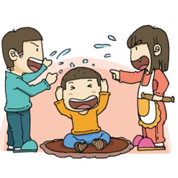 幼儿打架卡通图